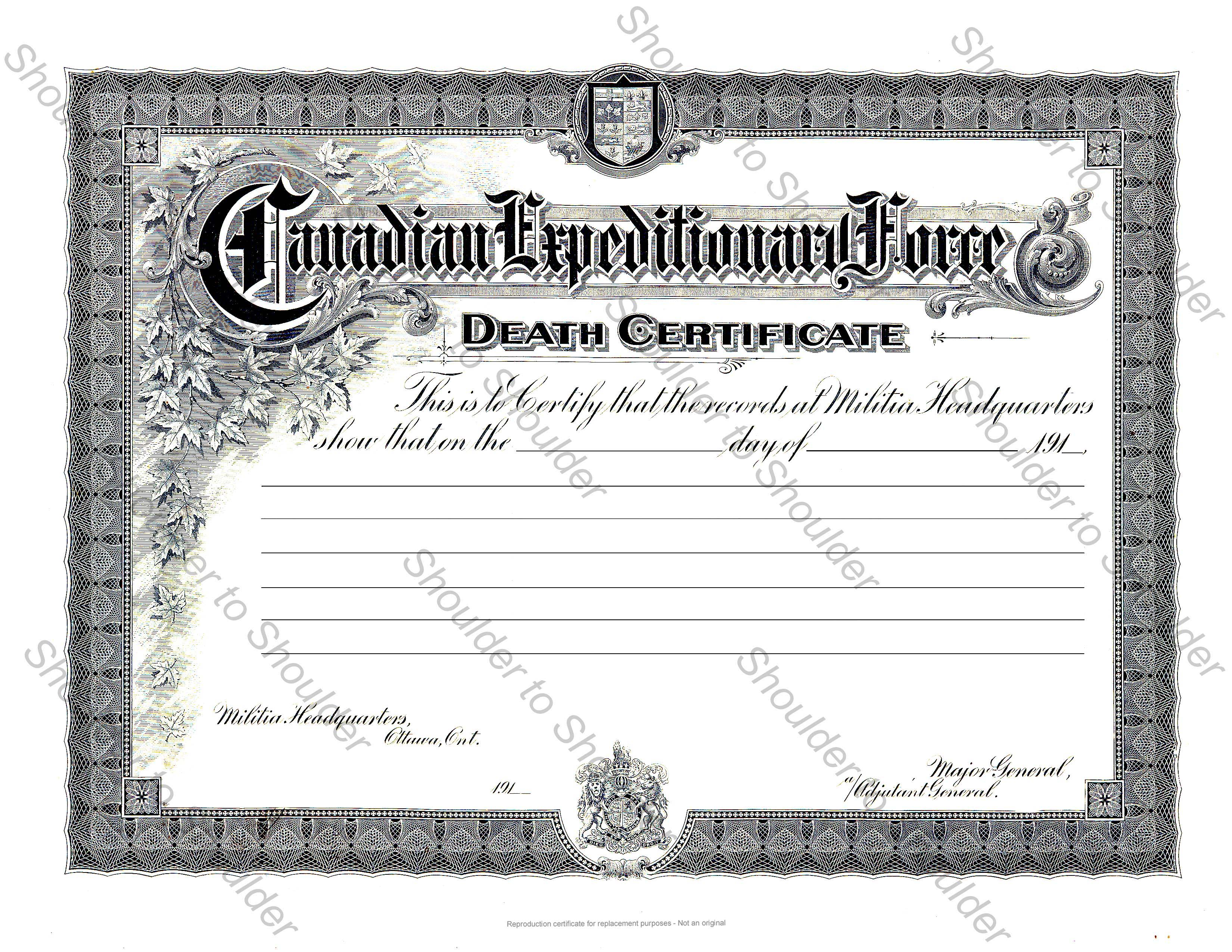 Death certificate template yadclub Images